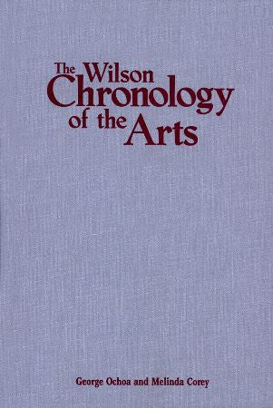 Wilson Chronology of the Arts