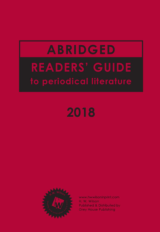 Abridged Readers' Guide to Periodical Literature (2018 Subscription)
