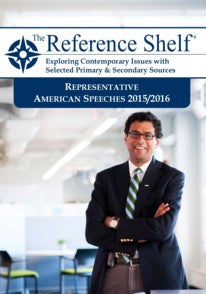 Reference Shelf: Representative American Speeches, 2015-2016