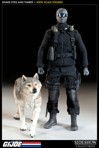 G.I. Joe Snake Eyes and Timber Sixth Scale Figure by Sideshow Collectibles