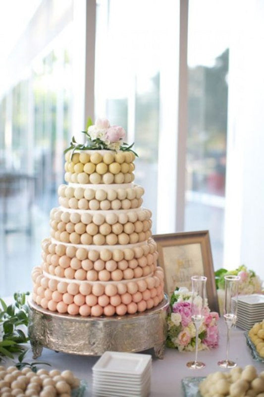 chocoalte truffles wedding cake