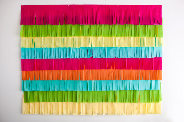 feista party decor fringe backdrop