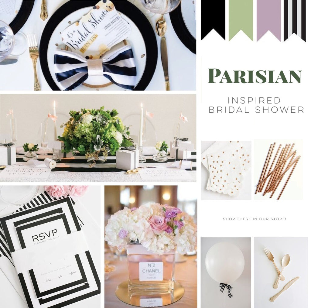 french parisian inspired bridal shower theme