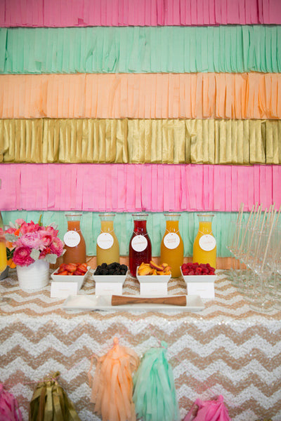 easy party decor backdrop