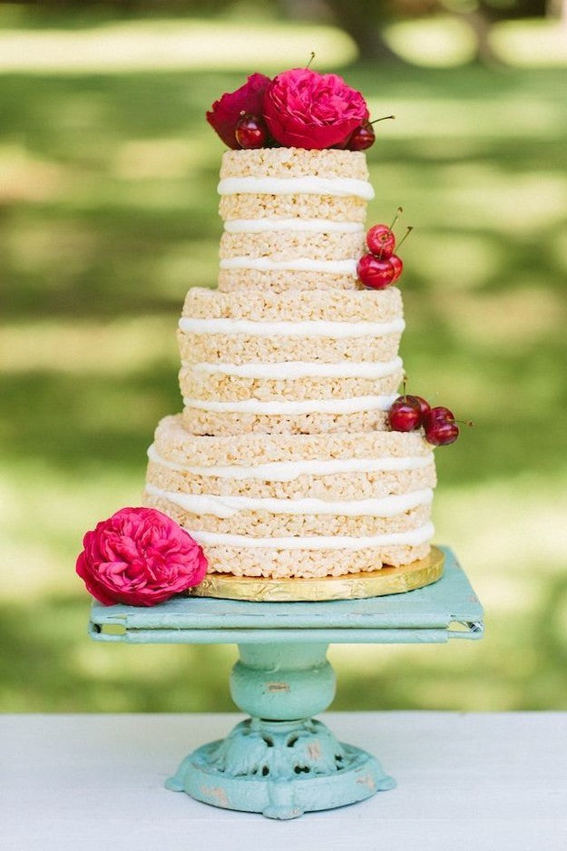 rice krispies treat wedding cake