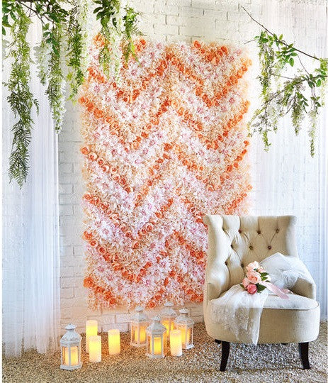 do it yourself flower backdrop