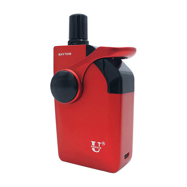 Rhythm vaporizer Red side view uk