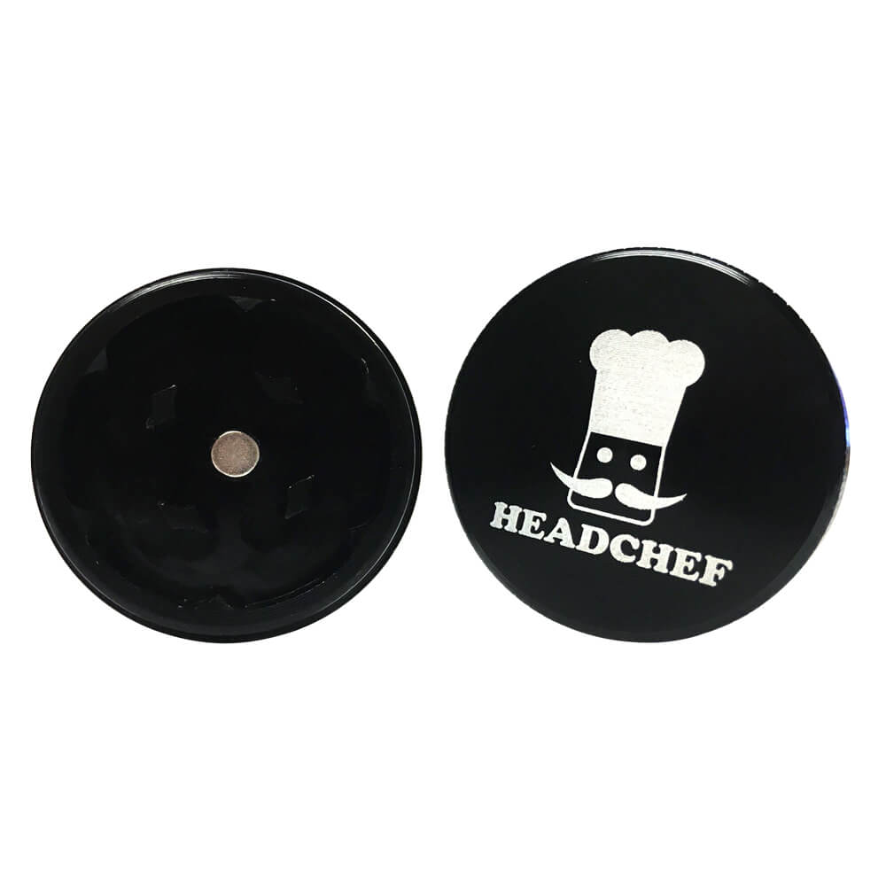 Head Chef Mini 2-Piece Grinder Black