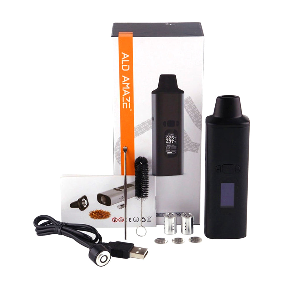 ALD AMAZE WOW Dry Herb Vaporizer with accessories