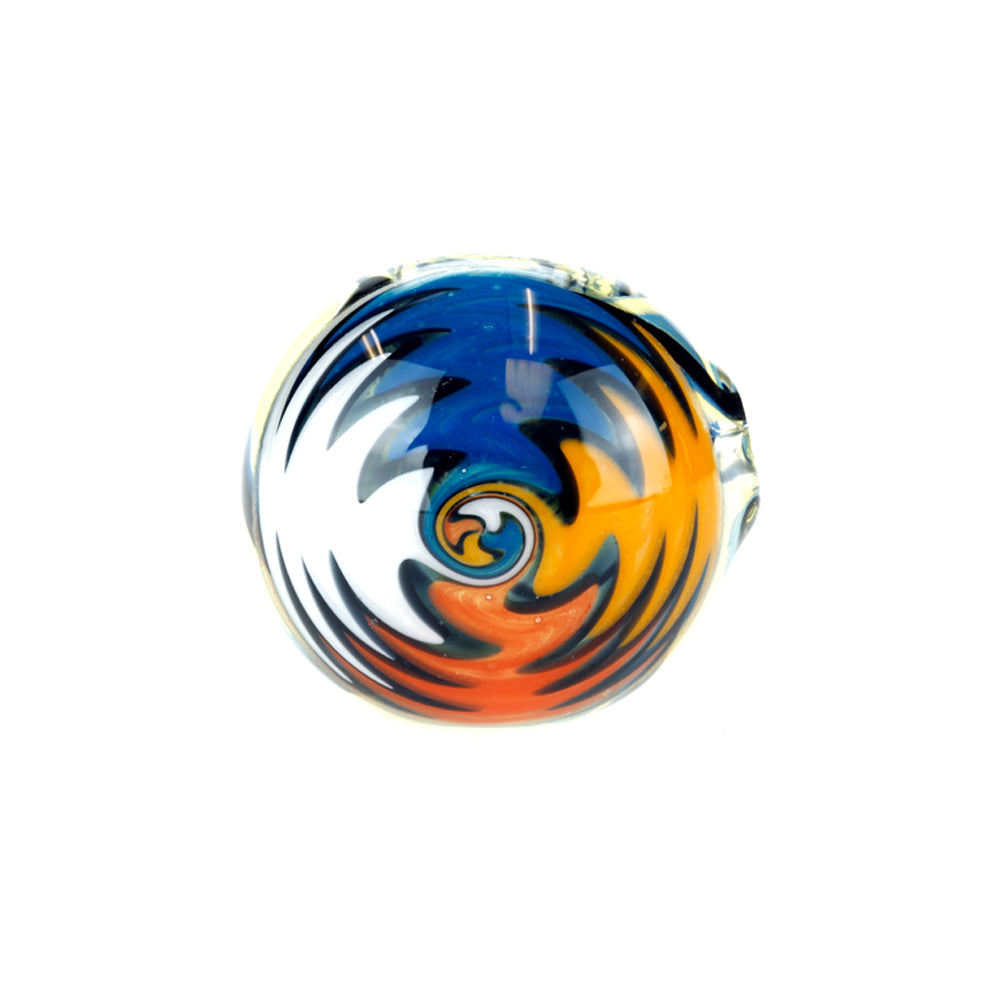 Black Spiral Colour Changing Glass Pipe