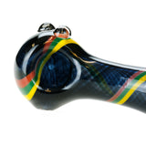 Rasta Glass Deluxe Spoon Pipe