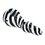 Black and White Spiral Spoon Pipe