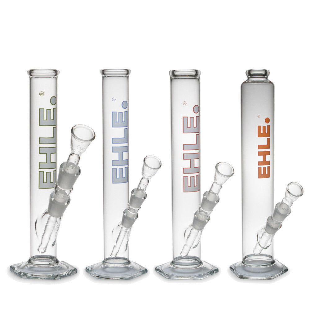 Clear Cylinder Bong Hexagon Foot