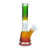 Rasta Beaker Bong with 8-Arm Tree Perc