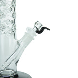 Spike' Cylinder Bong in Ice Black