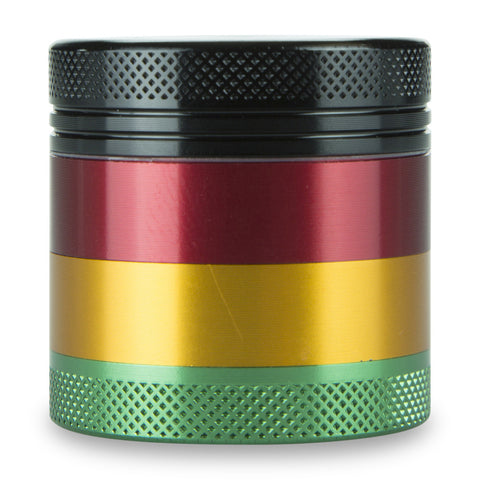 "4 Part 1.5"" Aluminium Rasta Pocket Grinder with Sifter"