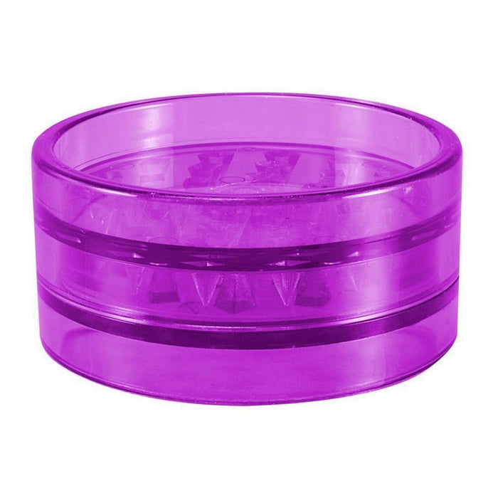 Acrylic Pyramid Grinder with Magnet Purple