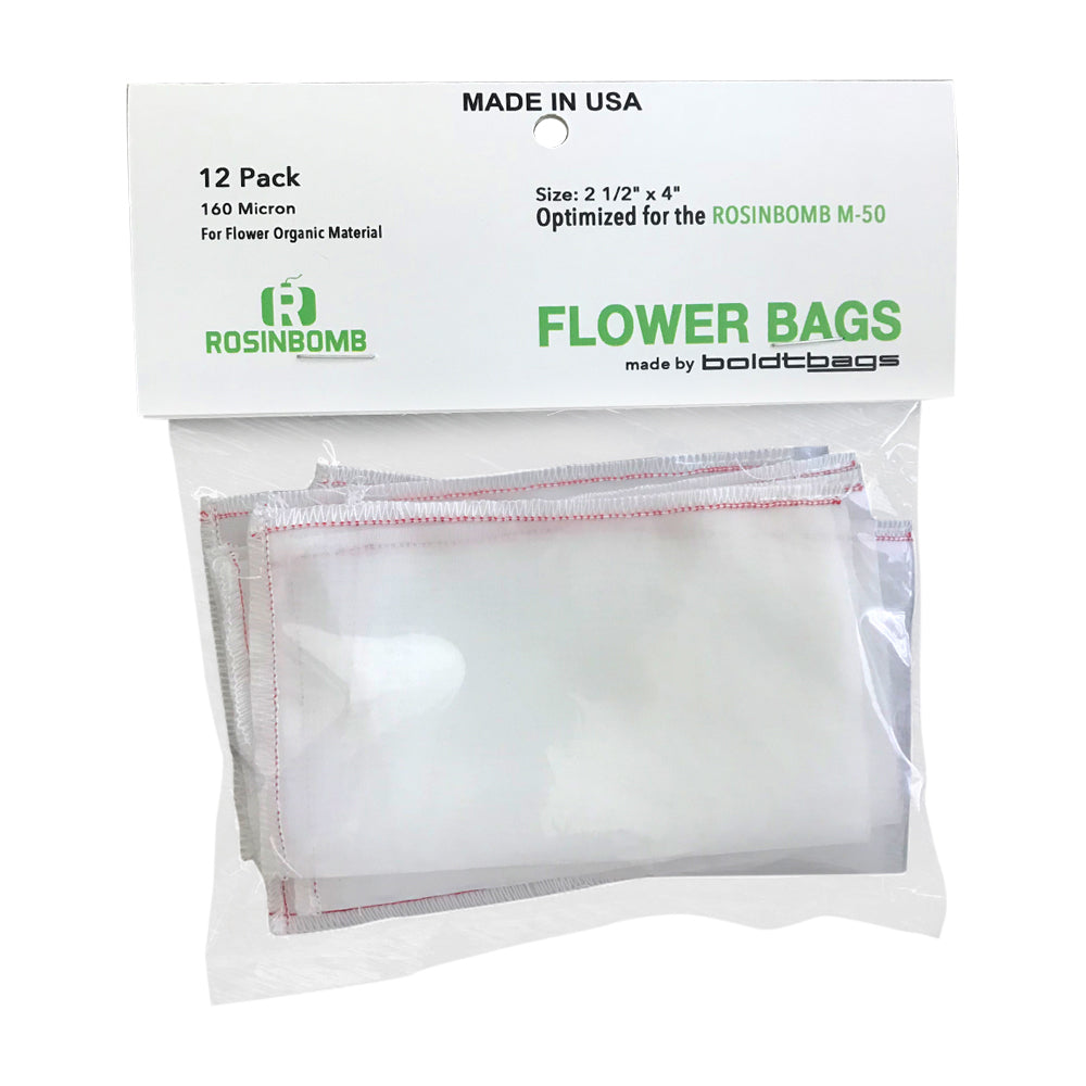 Rosinbomb M50 Flower Bag Front UK