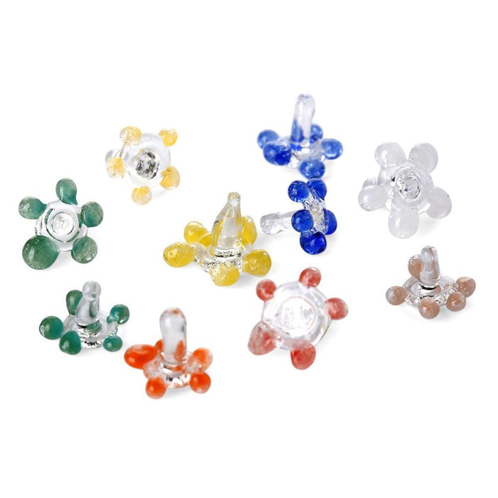 Coloured Daisy Glass Pipe Gauzes