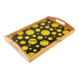 Wooden Rolling Tray Smiley Faces