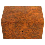 Moroccan Thuya Wood Peaked Stash Box with Key