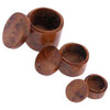 Moroccan Thuya Wood 3-in-1 Stash Jar Set