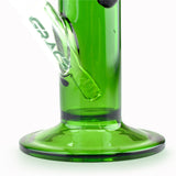 Straight Tube Bong with Ice Notches and Splash Guard Green