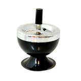 Art Deco Spinning Ashtray Black