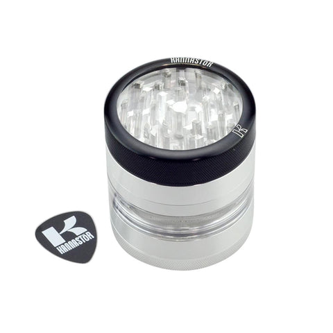 Clear Top Four Piece Grinder Jar Medium
