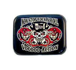 1oz Tin Voodoo Action Skull and Snakes