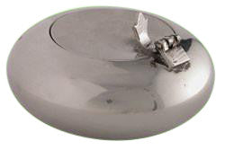 Silver Ashtray With Cigarette Holder Lid