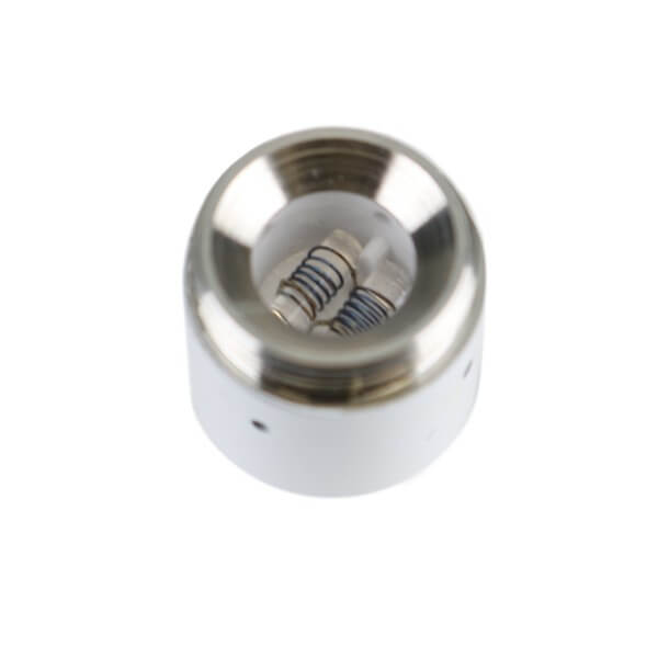 Kandypens Prism Dual Quartz Coil white top view uk