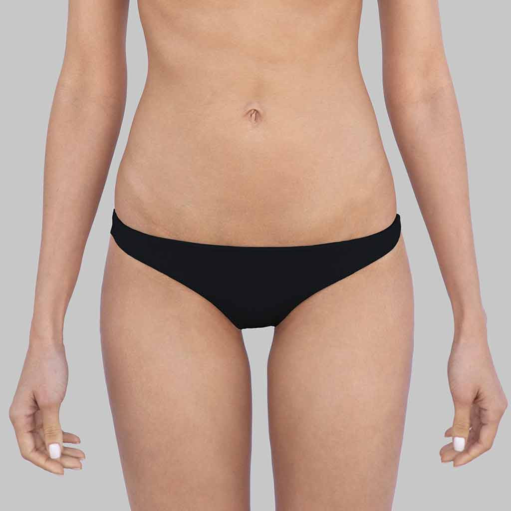 This is our sophia Cheeky Hipster Bikini bottoms  In Black Matte Finish Fabric