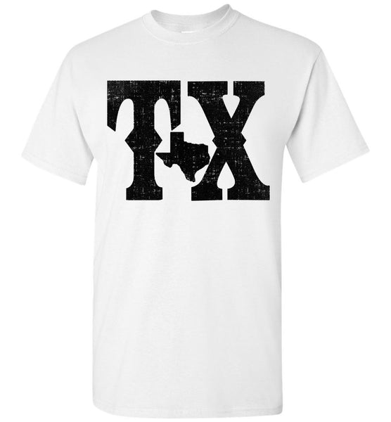 TX Outline Distressed Men's T-shirt