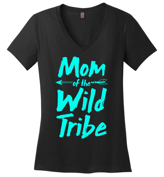 Mom of the Wild Tribe Ladies V-Neck