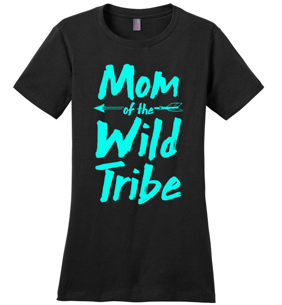 Mom of the Wild Tribe Ladies T-shirt
