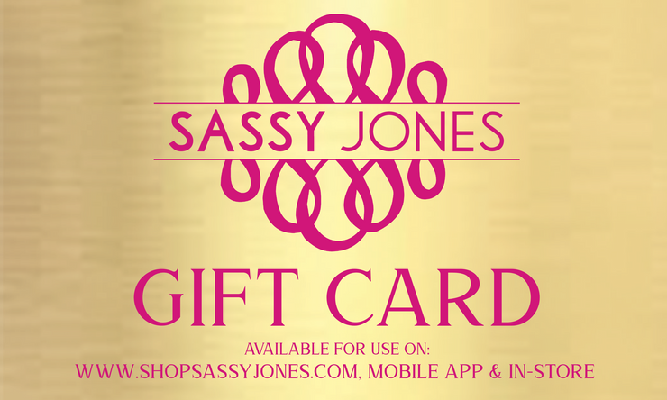 Sassy Jones Gift Card (Emailed In Minutes)