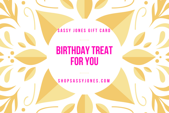 Sassy Jones Gift Card - Birthday (Emailed In Minutes)
