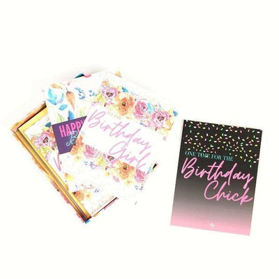 Birthday cards, envelope & sticker set