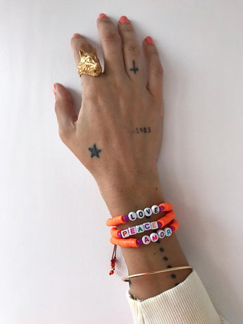 Pulsera Katsuki Orange Letters (Personalizable)