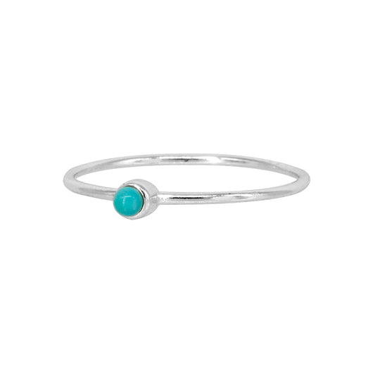 Anillo Basic Turquoise Silver