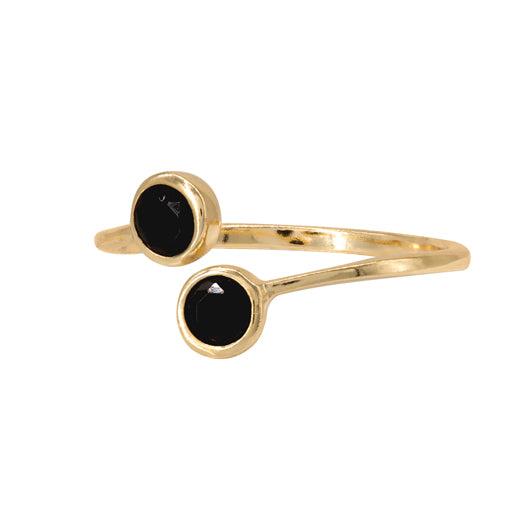 Anillo Black Dots Gold