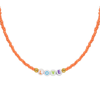 Collar Love Orange (Personalizable)