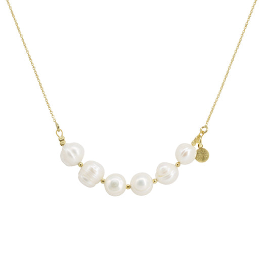 Collar Six Pearl Gold