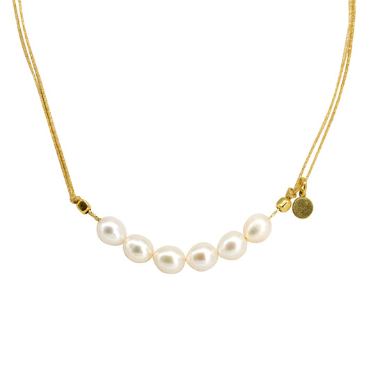 Collar Six Pearl Macramé