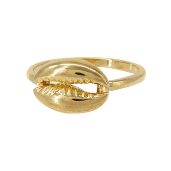 Cowry Ring Gold