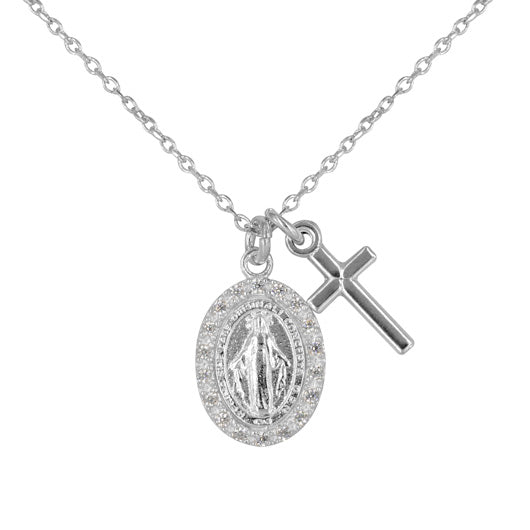 Collar Virgin Cross Shine