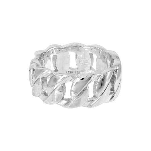 Anillo Heavy Chain Silver