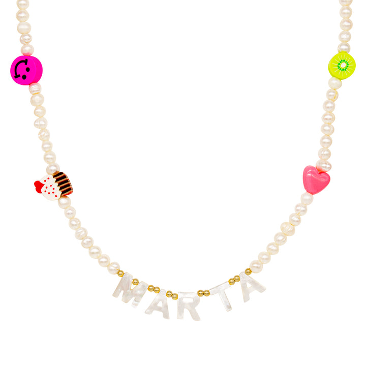 Collar Fun Nacar Pearl (Personalizable)