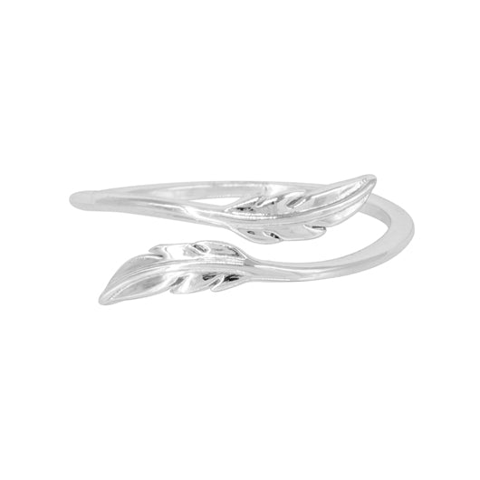 Anillo Medium Leaves Silver